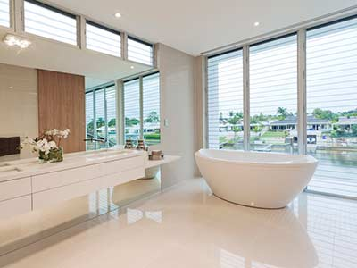 Designer bathtub install at Vancouver luxury home.